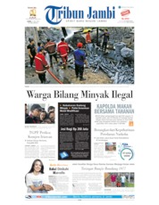 Cover Tribun Jambi 11 Juli 2019