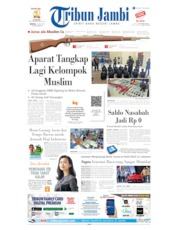Cover Tribun Jambi 21 Juli 2019
