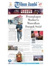 Cover Tribun Jambi 22 Juli 2019