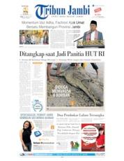 Cover Tribun Jambi 12 Agustus 2019