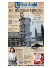 Cover Tribun Jambi 17 Agustus 2019