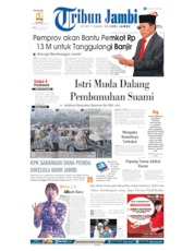 Cover Tribun Jambi 28 Agustus 2019