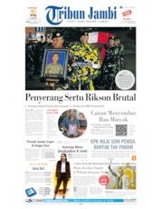 Cover Tribun Jambi 30 Agustus 2019
