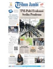 Cover Tribun Jambi 31 Agustus 2019