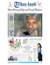 Cover Tribun Jambi 01 September 2019