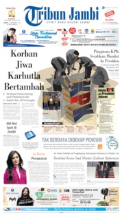 Cover Tribun Jambi 14 September 2019