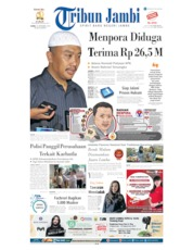 Cover Tribun Jambi 19 September 2019