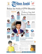 Tribun Jambi Cover 22 October 2019