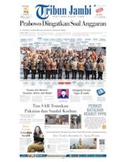 Cover Tribun Jambi 24 Oktober 2019
