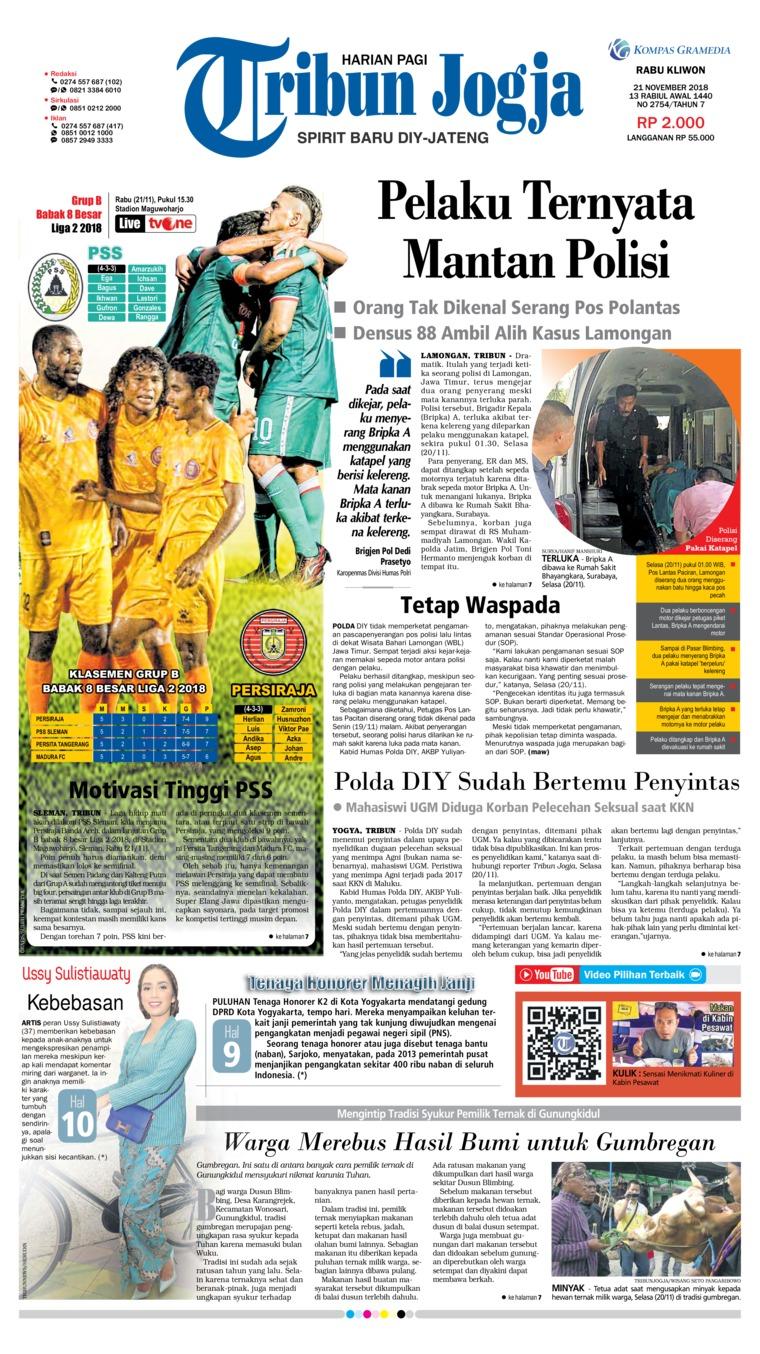 Koran Digital Tribun Jogja 21 November 2018