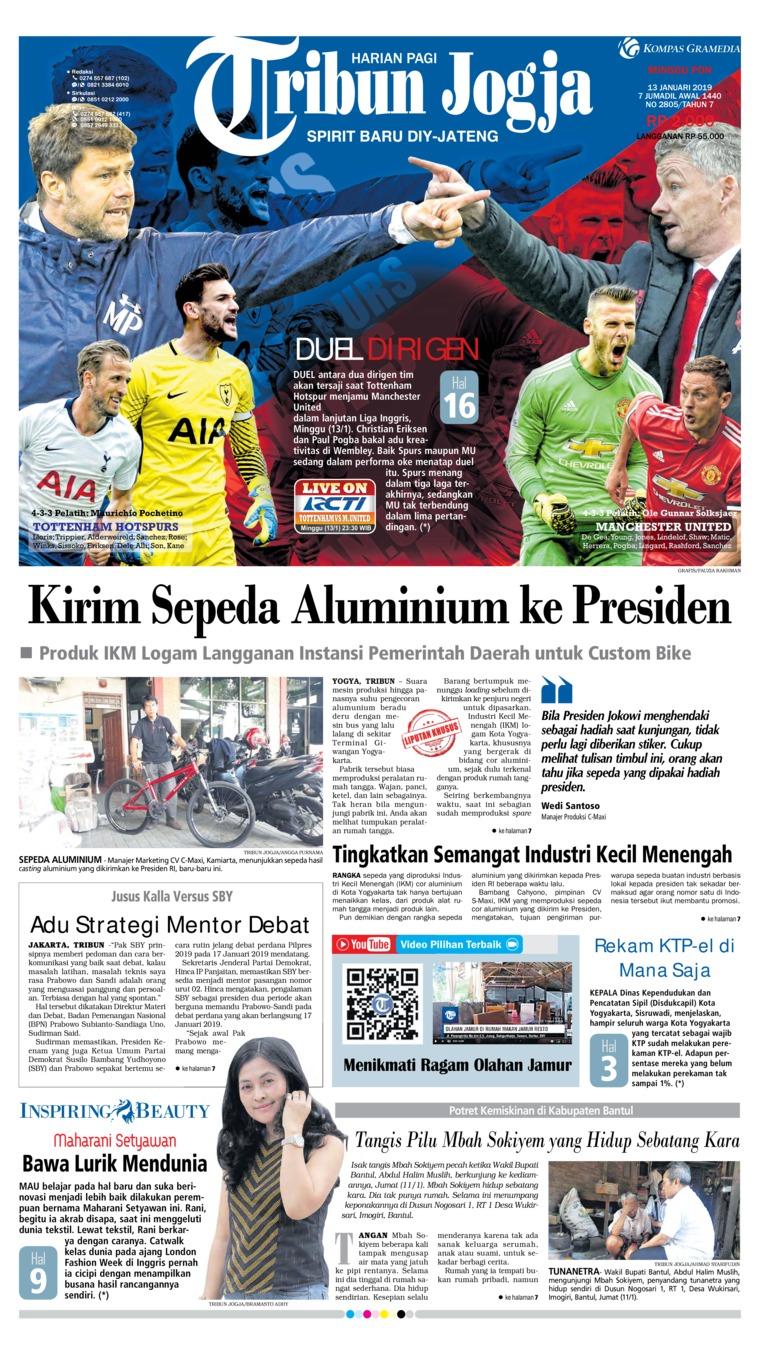 Koran Digital Tribun Jogja 13 Januari 2019