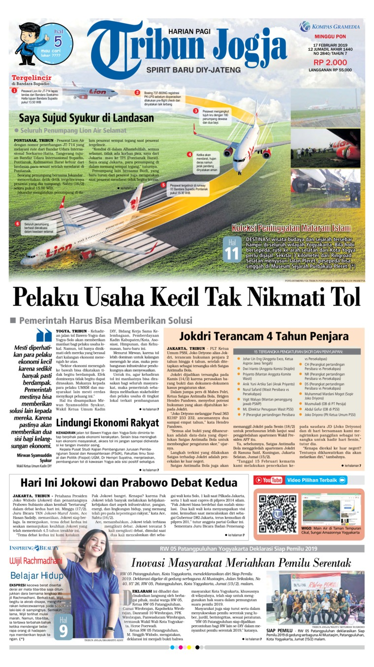 Tribun Jogja Digital Newspaper 17 February 2019