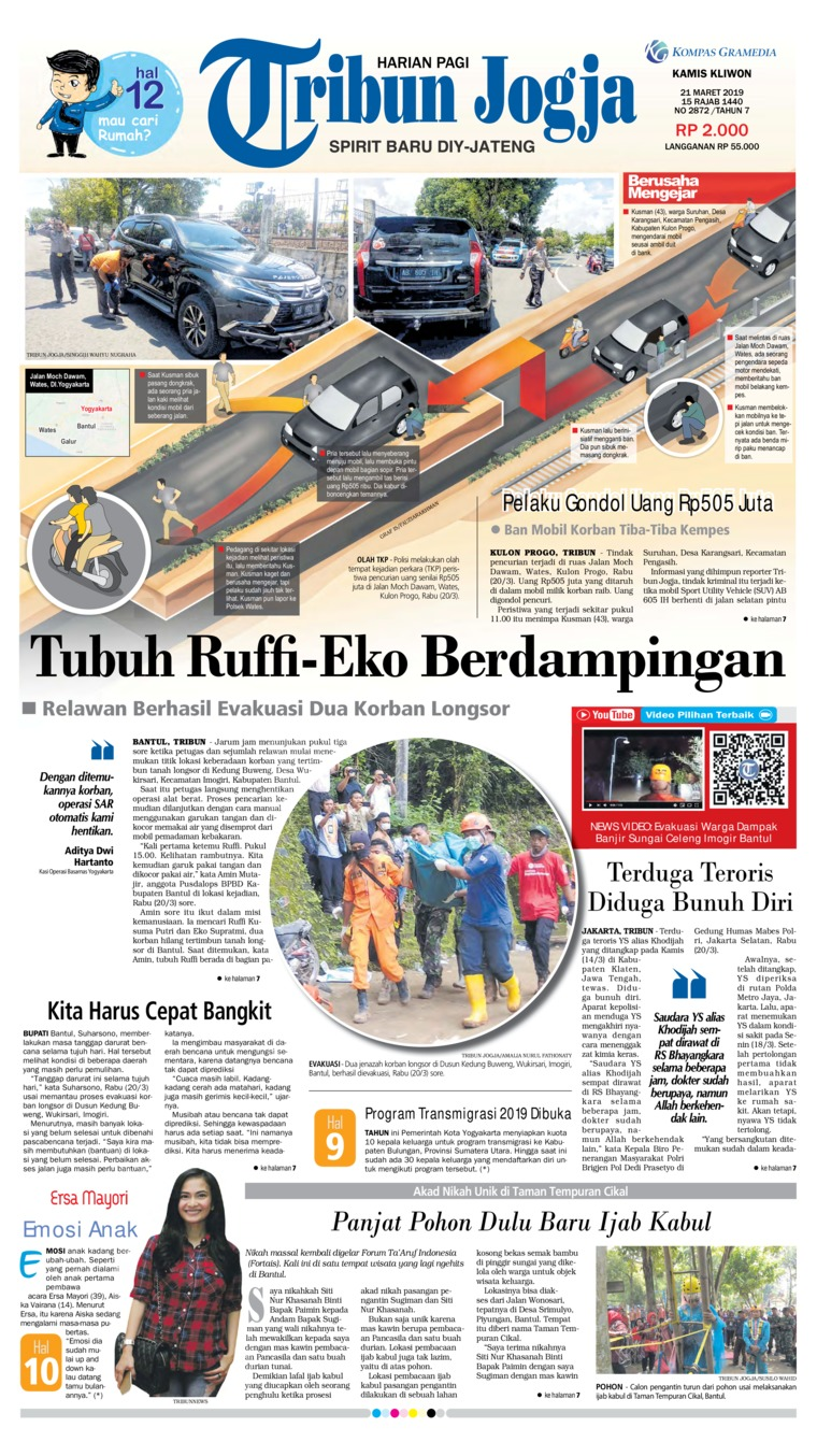 Koran Digital Tribun Jogja 21 Maret 2019