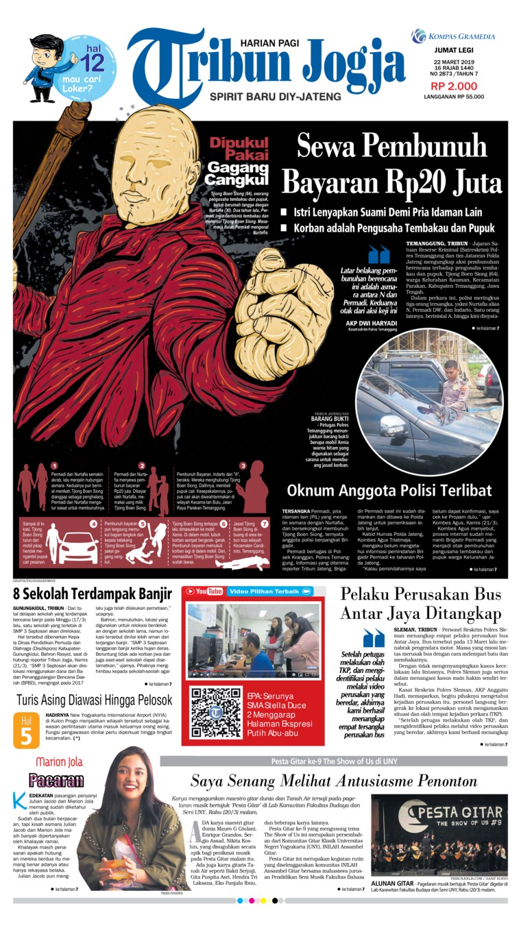 Koran Digital Tribun Jogja 22 Maret 2019