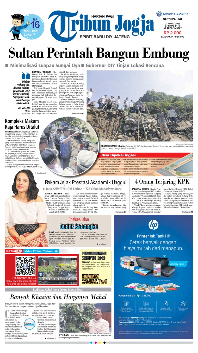 Koran Digital Tribun Jogja 23 Maret 2019