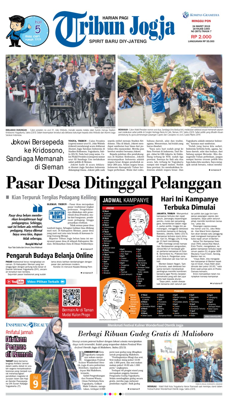 Koran Digital Tribun Jogja 24 Maret 2019