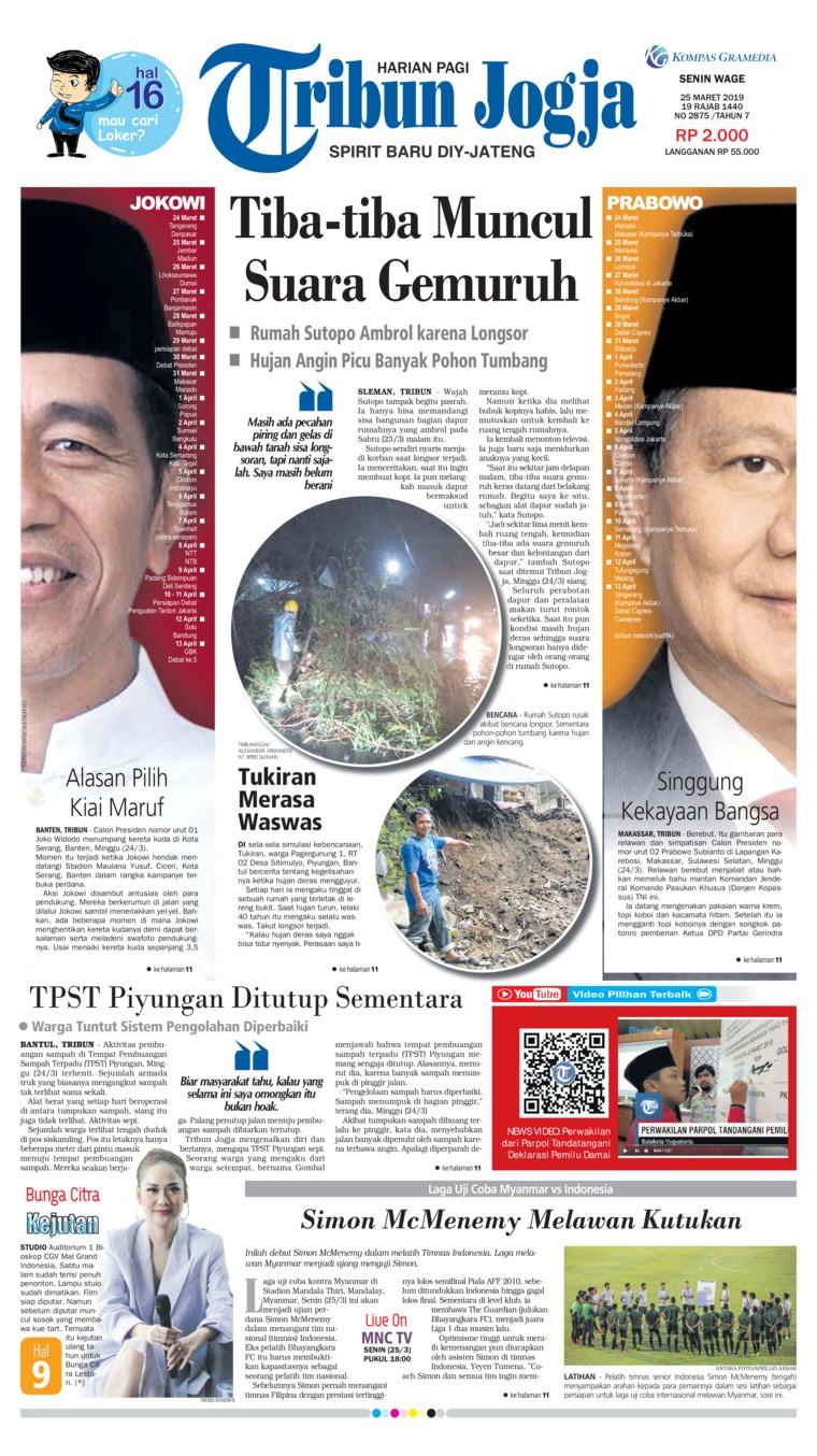 Koran Digital Tribun Jogja 25 Maret 2019