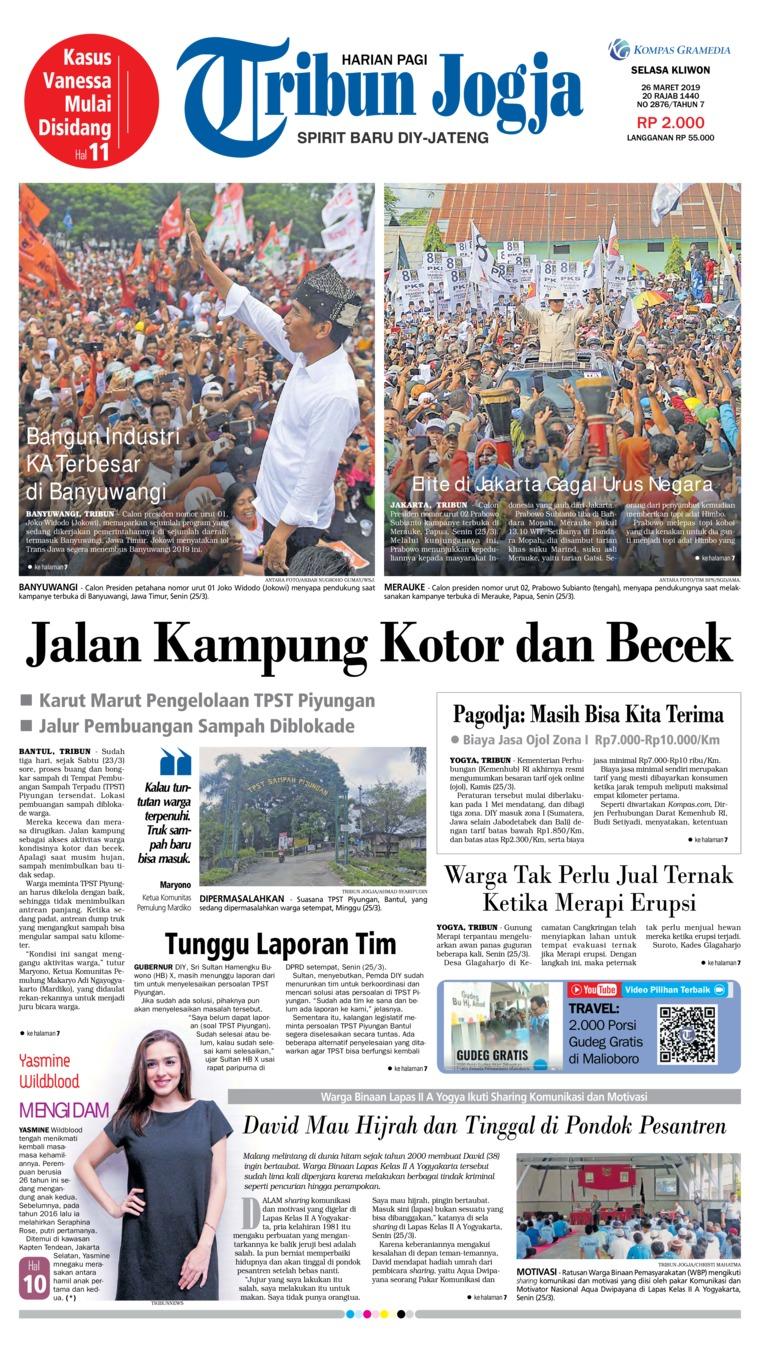 Koran Digital Tribun Jogja 26 Maret 2019