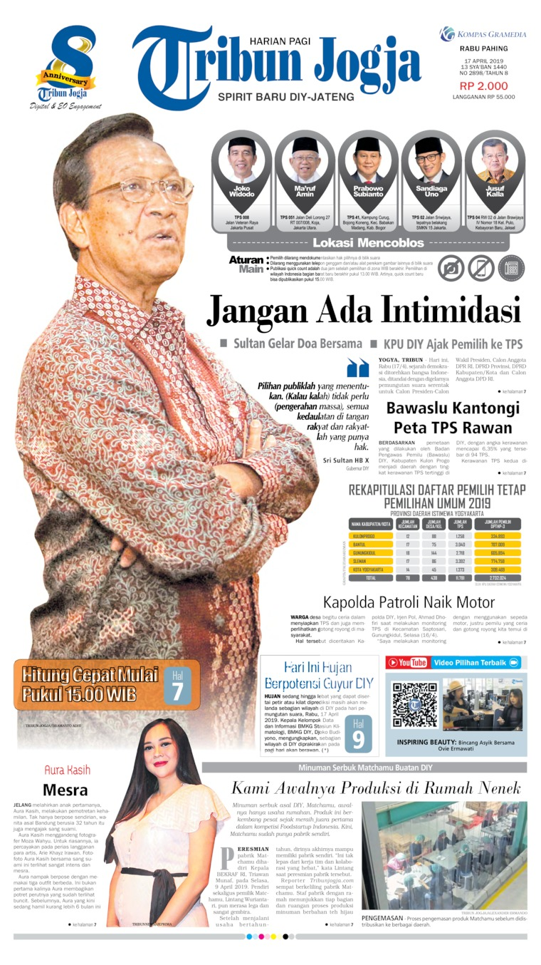 Koran Digital Tribun Jogja 17 April 2019
