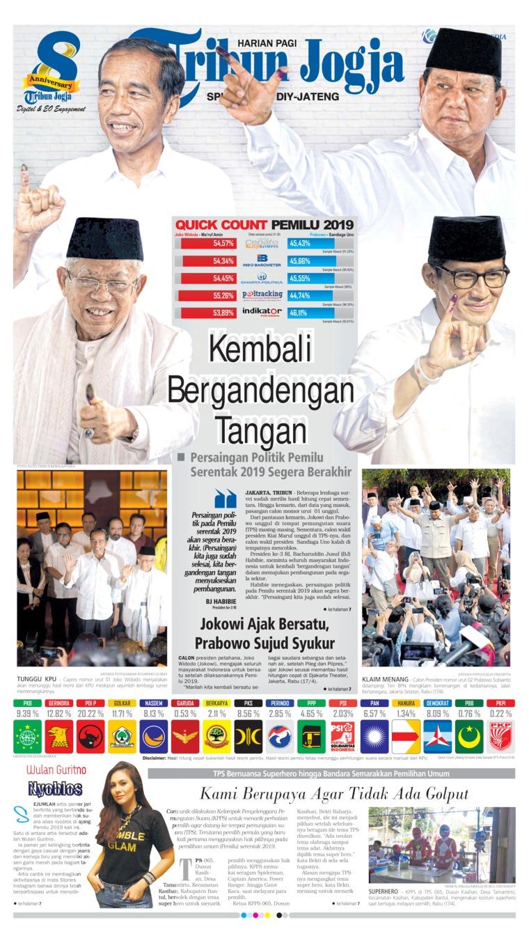 Koran Digital Tribun Jogja 18 April 2019