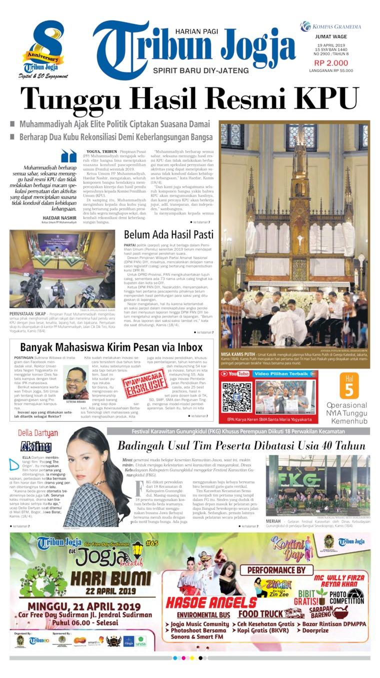 Koran Digital Tribun Jogja 19 April 2019