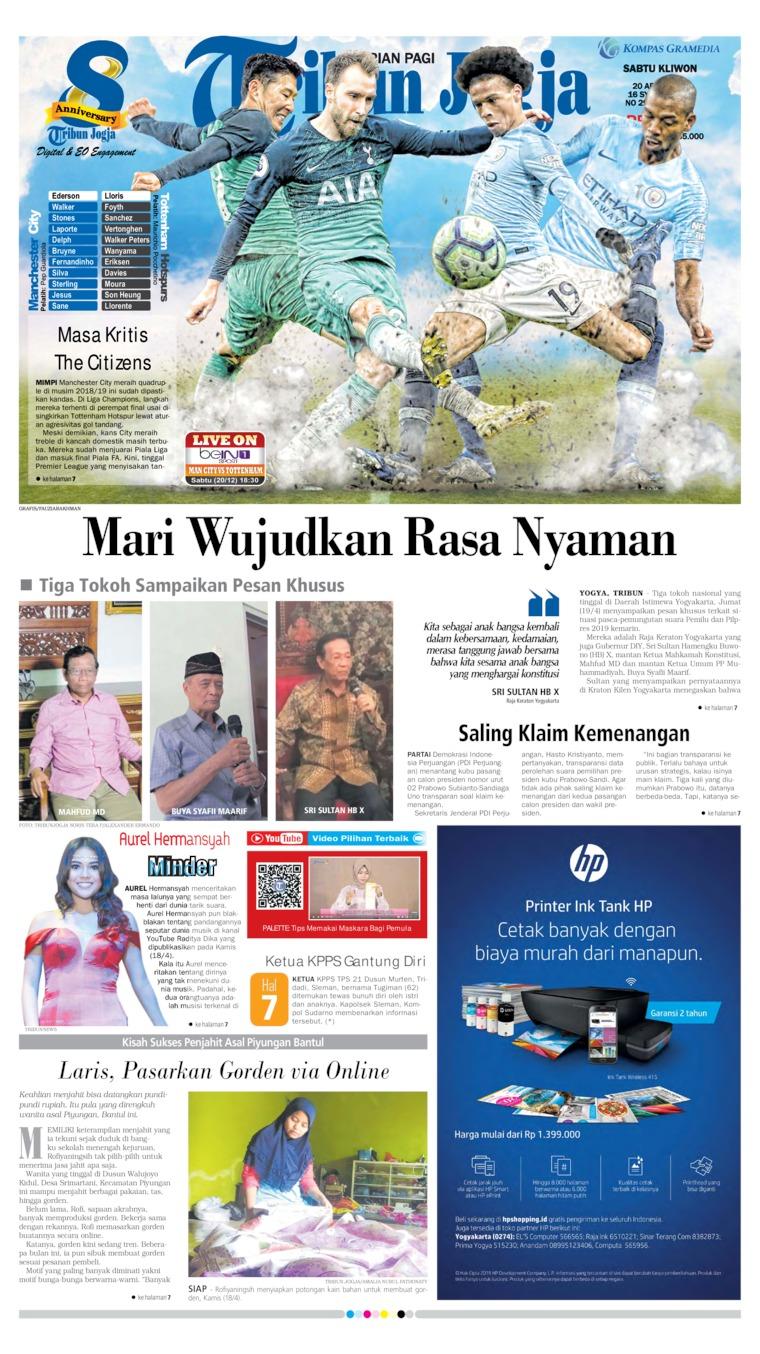 Koran Digital Tribun Jogja 20 April 2019