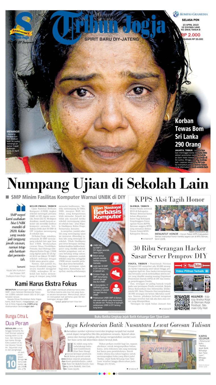 Tribun Jogja Digital Newspaper 23 April 2019