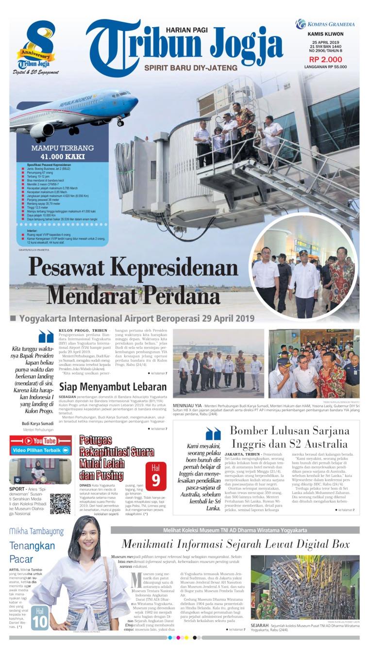 Koran Digital Tribun Jogja 25 April 2019