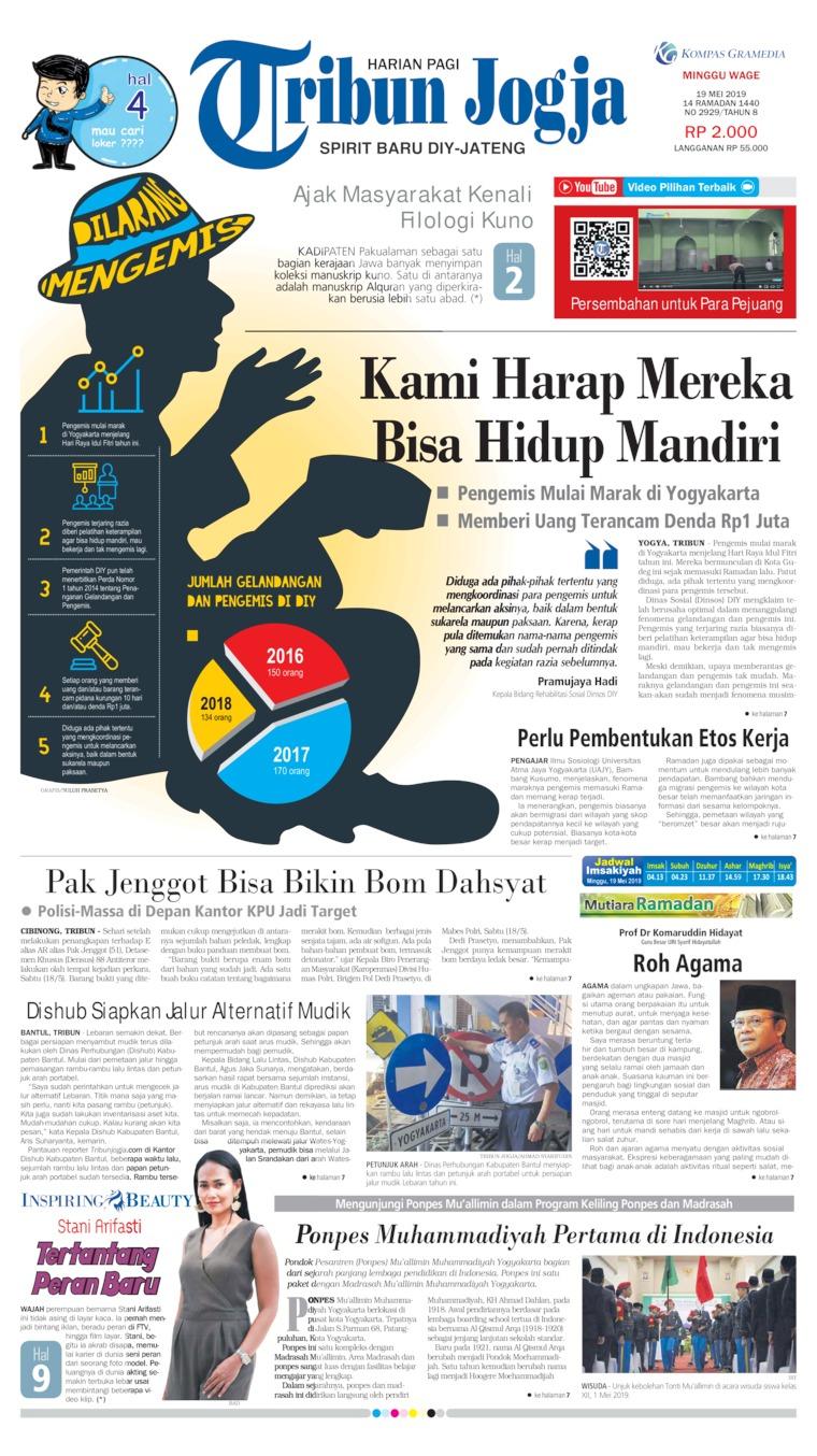 Tribun Jogja Digital Newspaper 19 May 2019