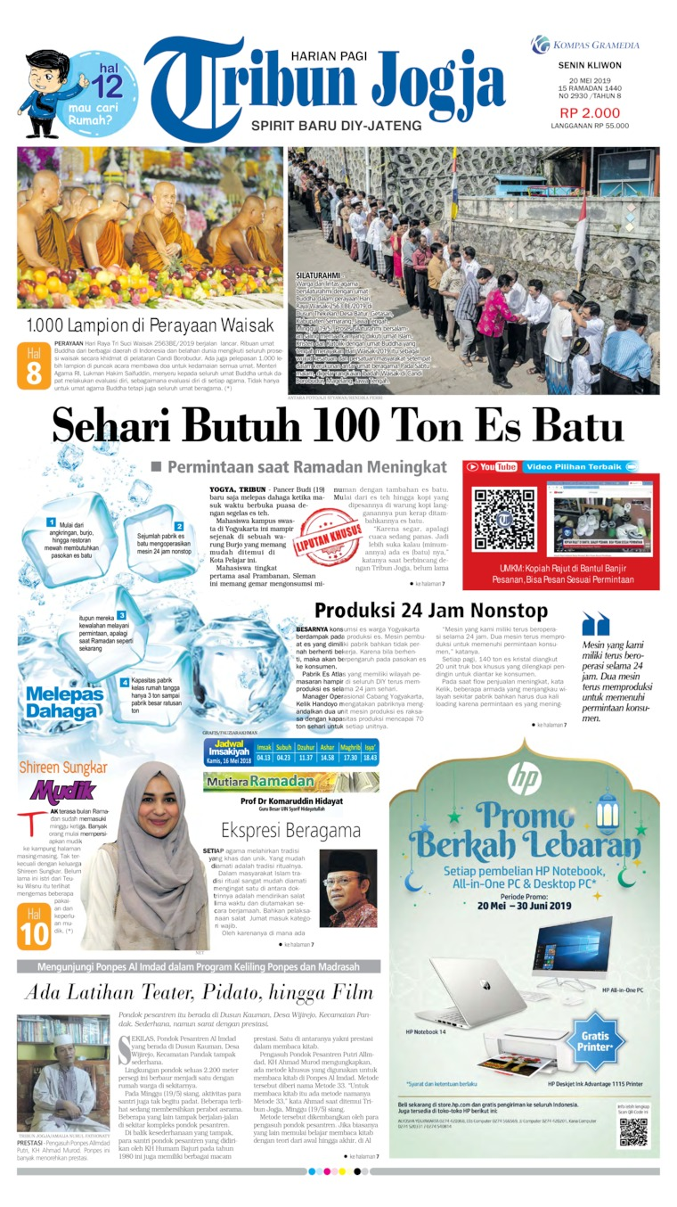 Tribun Jogja Digital Newspaper 20 May 2019