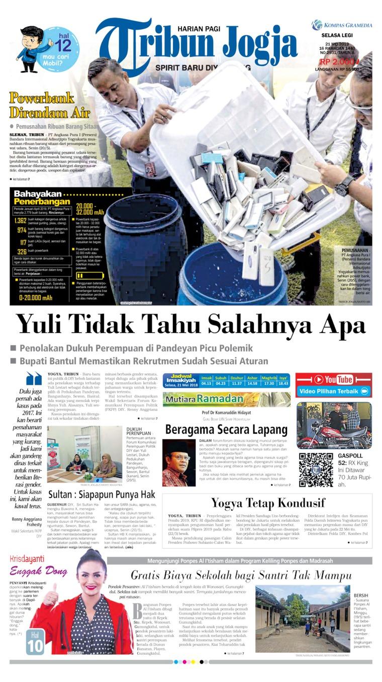 Koran Digital Tribun Jogja 21 Mei 2019