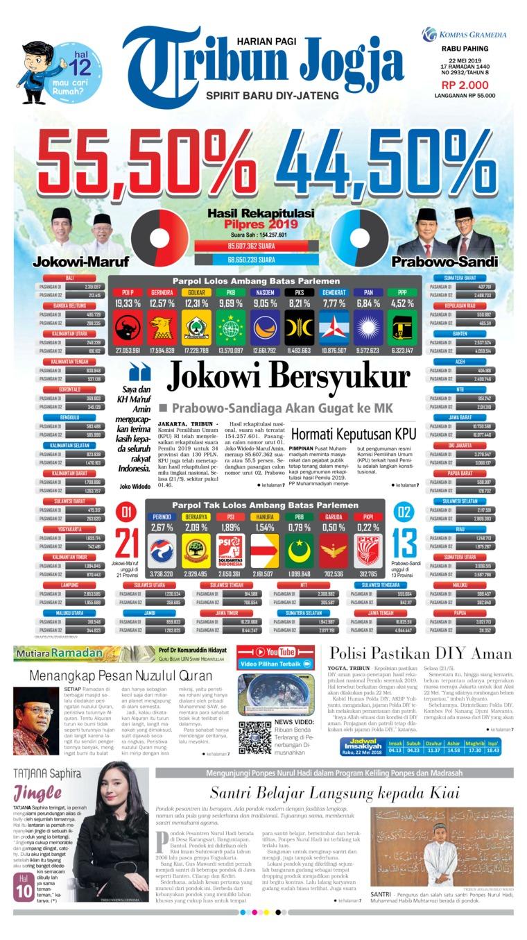 Koran Digital Tribun Jogja 22 Mei 2019