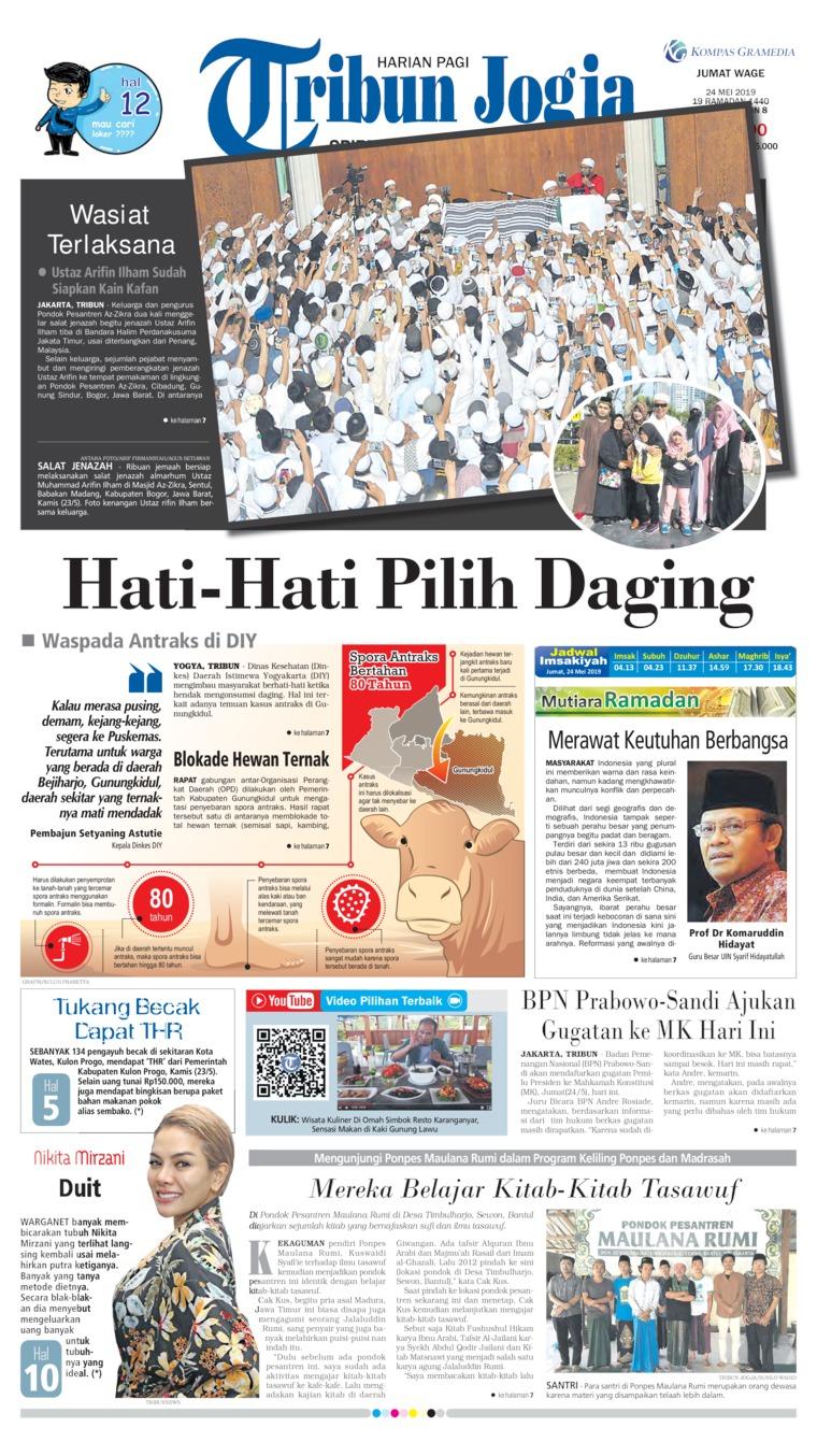 Tribun Jogja Digital Newspaper 24 May 2019