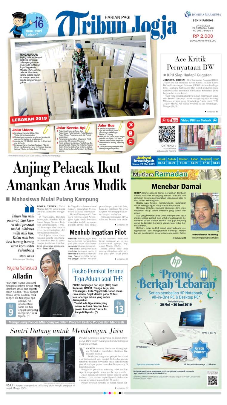 Tribun Jogja Digital Newspaper 27 May 2019