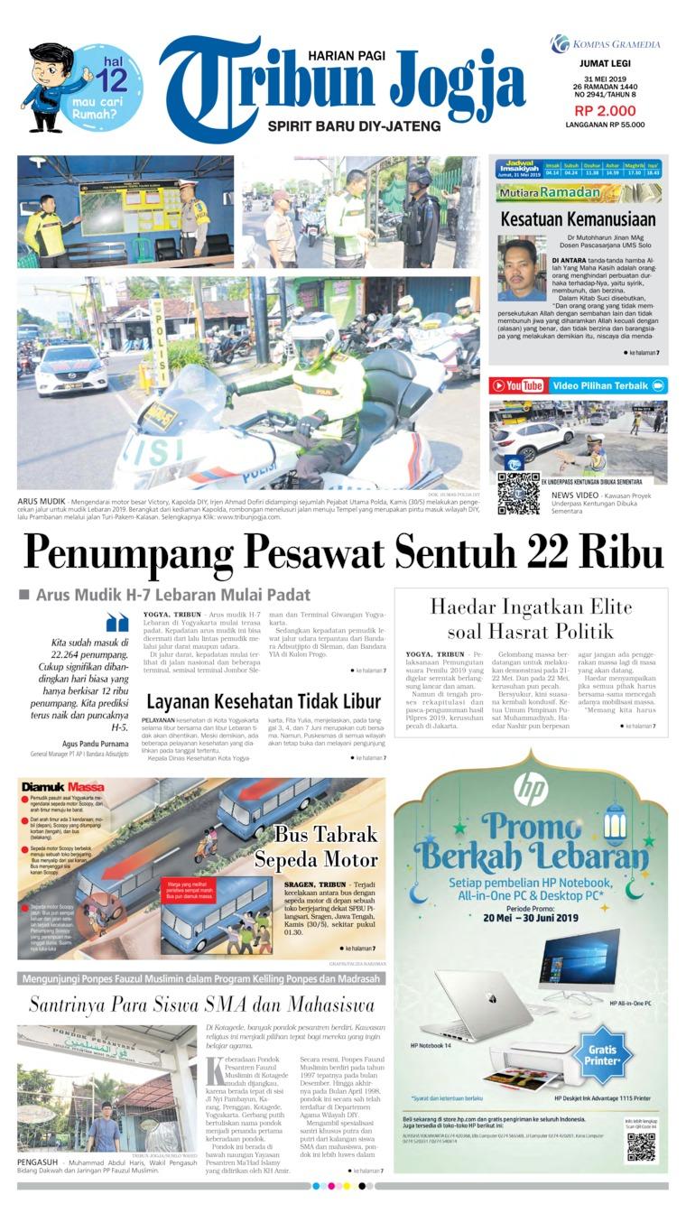 Tribun Jogja Newspaper 31 May 2019 - Gramedia Digital