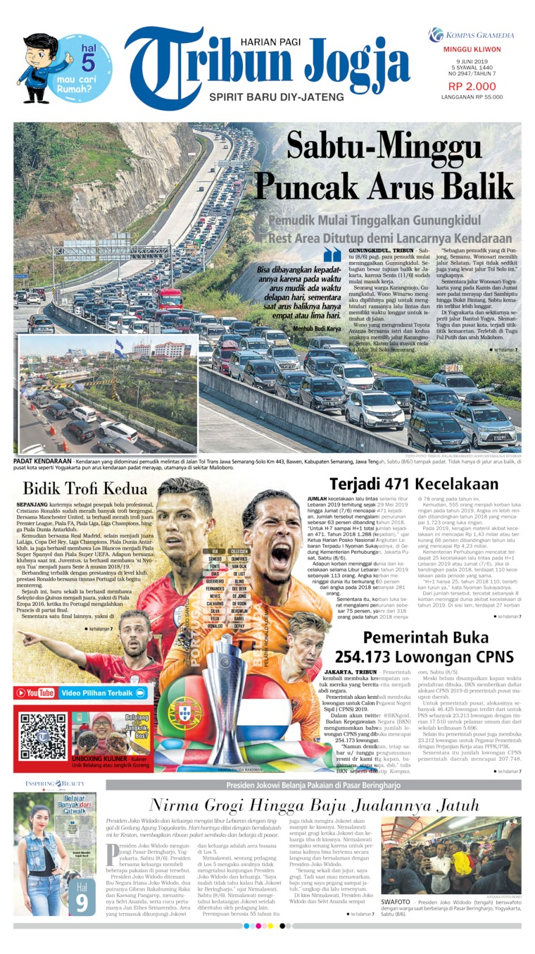 Tribun Jogja Digital Newspaper 09 June 2019