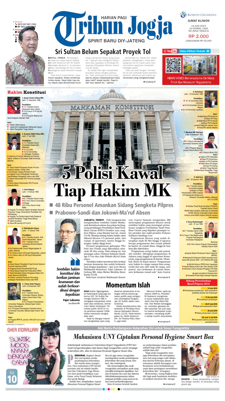 Tribun Jogja Digital Newspaper 14 June 2019