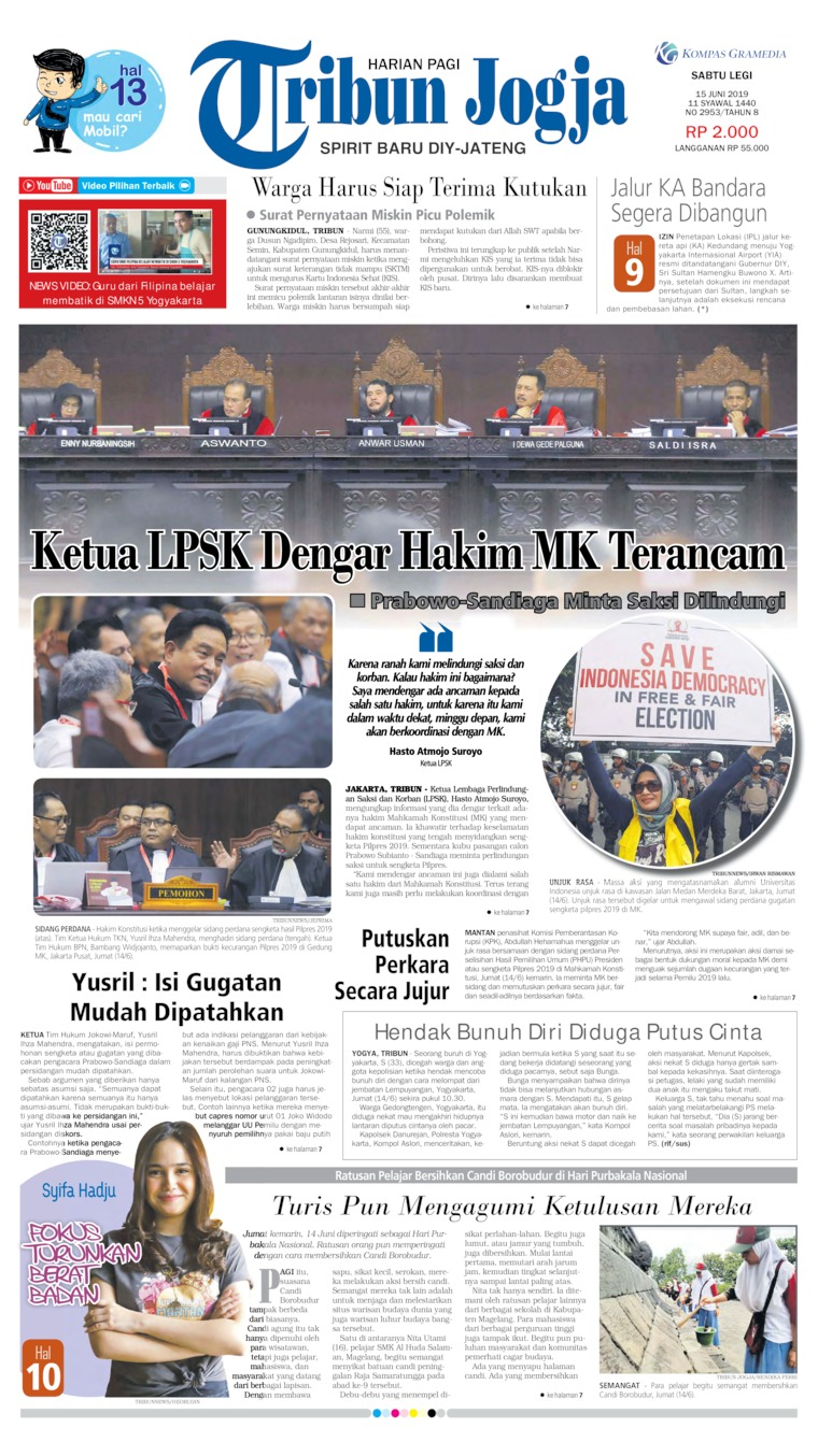 Koran Digital Tribun Jogja 15 Juni 2019
