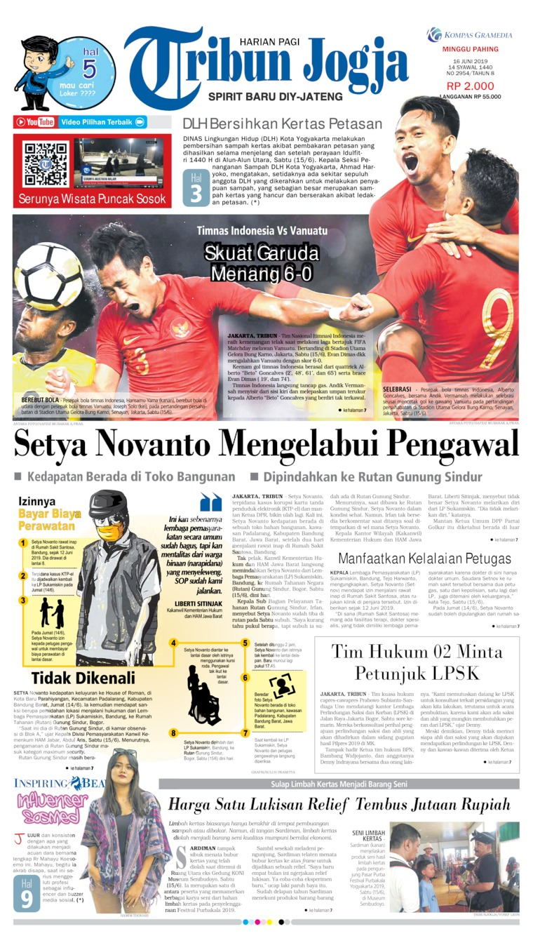 Tribun Jogja Digital Newspaper 16 June 2019