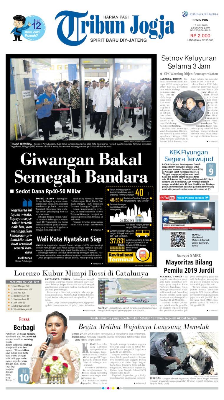 Tribun Jogja Digital Newspaper 17 June 2019