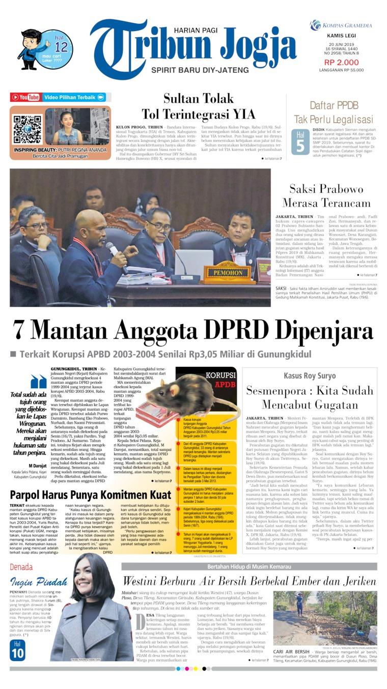Koran Digital Tribun Jogja 20 Juni 2019