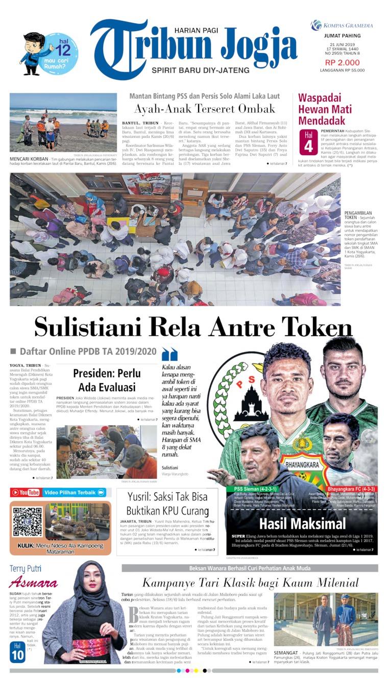 Koran Digital Tribun Jogja 21 Juni 2019