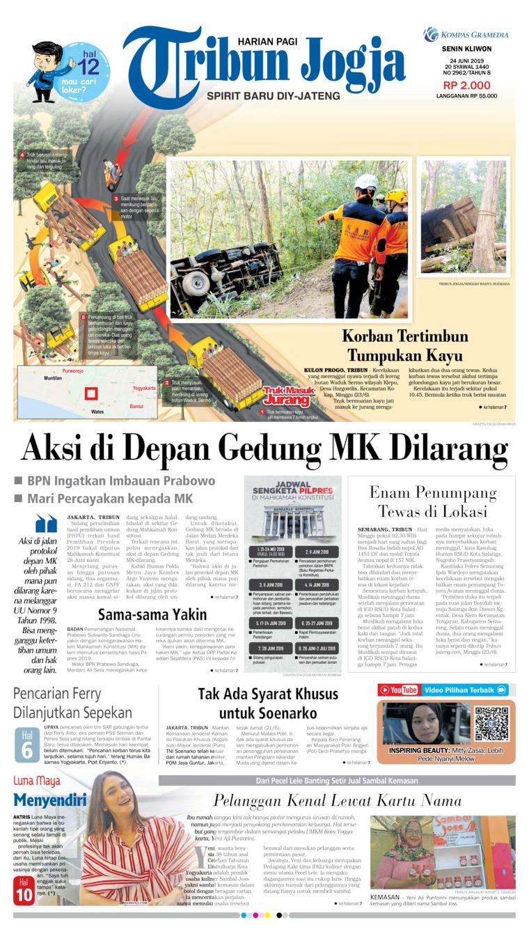 Koran Digital Tribun Jogja 24 Juni 2019