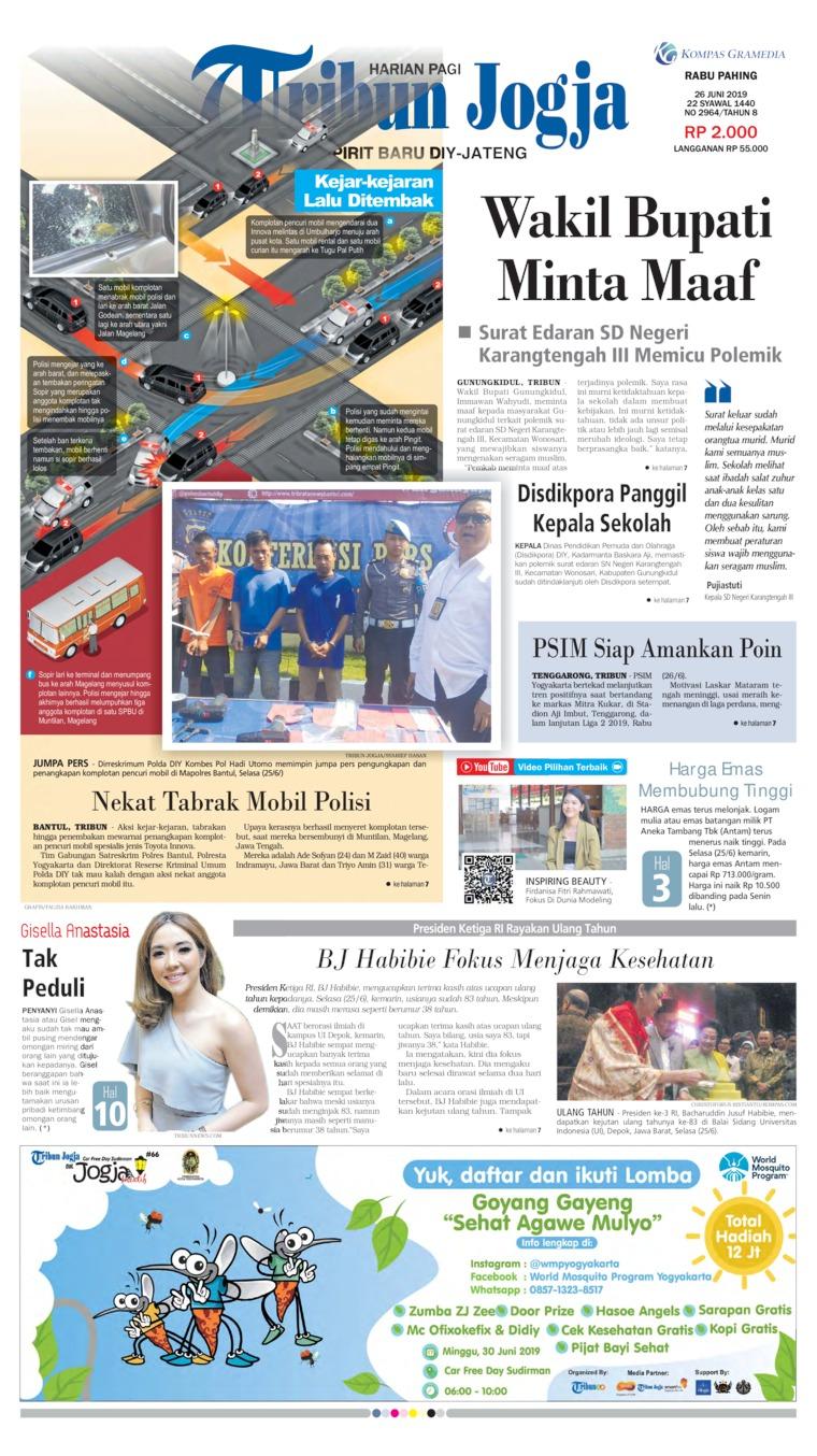 Koran Digital Tribun Jogja 26 Juni 2019