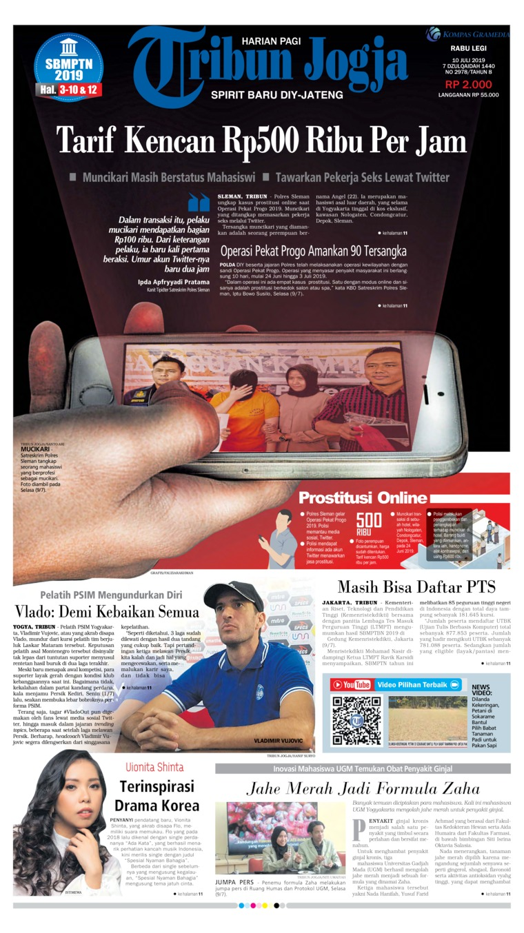 Tribun Jogja Digital Newspaper 10 July 2019