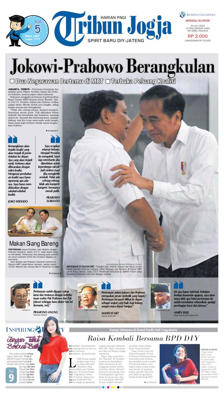 Tribun Jogja Digital Newspaper 14 July 2019