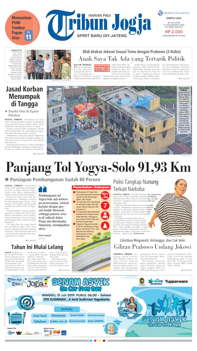 Tribun Jogja Digital Newspaper 20 July 2019