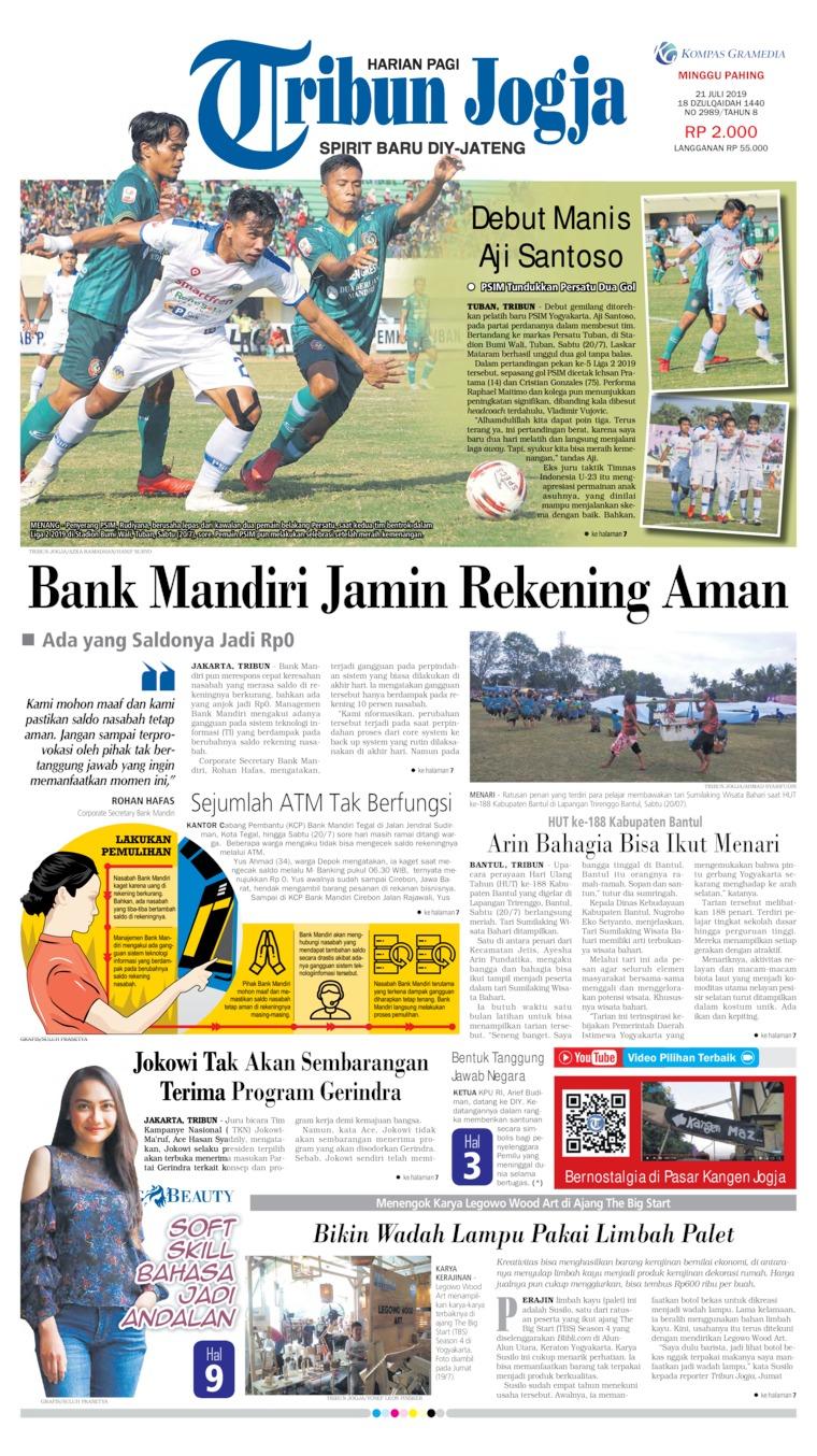 Tribun Jogja Digital Newspaper 21 July 2019