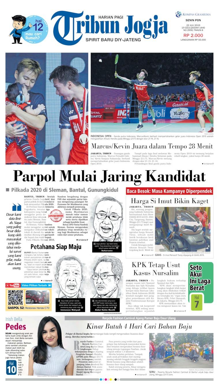 Tribun Jogja Digital Newspaper 22 July 2019