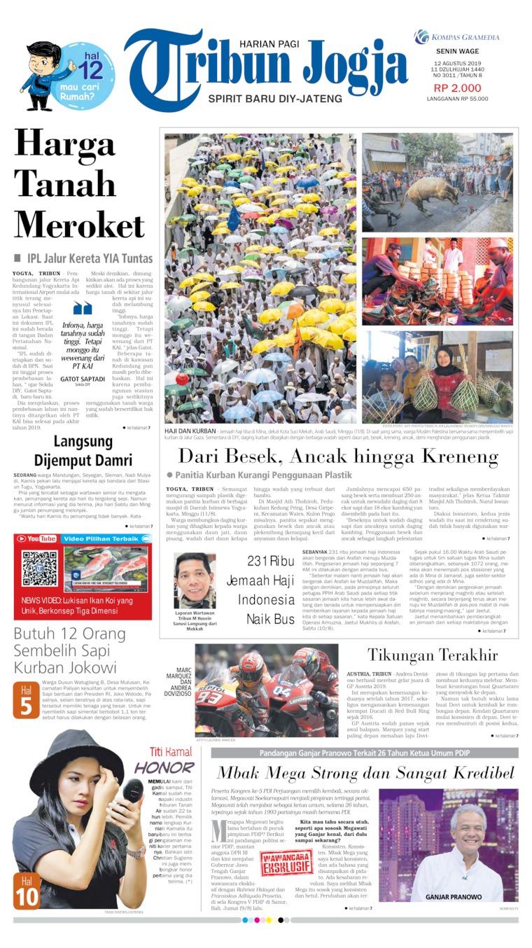 Tribun Jogja Digital Newspaper 12 August 2019